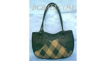 Fashion Leather Rattan Motif