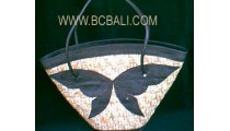 Leather Bags Sea Grass Natural