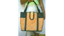 Leather Handbags Rattan