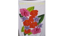 Floral Painted Sarongs Pareos