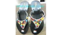 Bead Flat Sandal