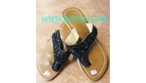 Elegant Bead Sandal With Heels