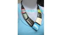 Ethnic Bone Necklaces Colored