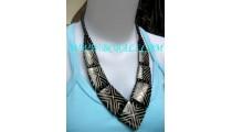 Black Bone Necklaces Handcarved