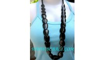 Long Strand Seeds Bead Bone Necklace