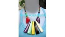 Multi Color Bone Necklace Pendant