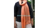 Cotton Stoles scarf Bali orange color