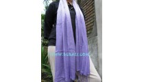 Ladies fashion scarves Stoles Mono Color purple
