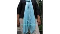 women fashion Scarf handmade bali blue color solid