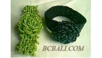 Full Beads Bracelet Flowers