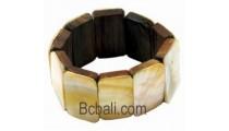 Wood Shell Bracelet