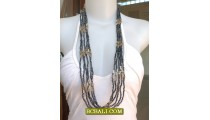 Bali Multi Strand Necklace Long Beading