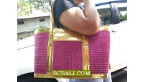 Lady Fashion Straw Handmade Handbags