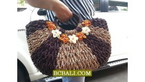 Bali Natural Handbag Design Straw Material