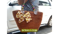 Bali Handmade Straw Handbags Shopping
