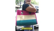 Multi Color Jute Handbags for Beach