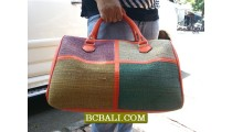 New Fashion Travel Bags Handmade Straw