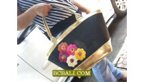 Flowers Embroidery Cotton Fashion Handbags