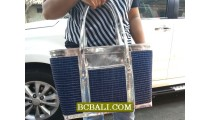 Indonesian Handbags Designs Straw Material