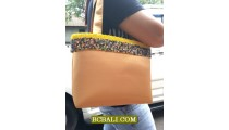 Ladies Cotton Handbags with Beads Belts