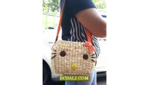 Ladies Handbag Long Handle Water Seagrass