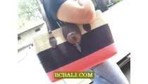 Multi Coloring Straw Handbags Handmade