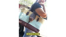 Natural Coloring Jute Ladies Handbags