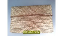 Rattan Purses Natural Wallets Ethnic