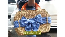 Natural Handbags Water Hyacinth FLowers