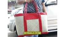 Natural Pandanus Handmade Bags Shopping