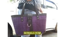 Straw Handmade Handbags Design Solid Color