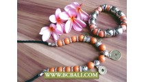 Stone Beads Acrilic Bracelet Sets Necklace