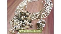 Bead Necklace Pendant Set Rings Casandra