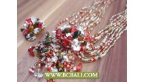 Balinese Multi Strand Bead Necklace Rings