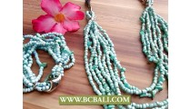 Beading Stone Charm Necklace Long Strands