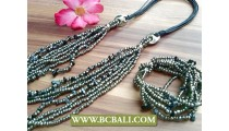 Exotic Necklace Sets Matching Stretch Charm
