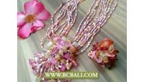 Fashion Necklace Multi Seeds Pendant Stone