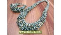 Indonesian Beads Necklace Set Bracelet