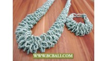 Krebo Bead Necklace Sets Design Indonesia
