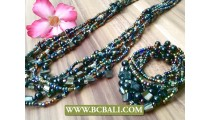 Mix Beaded Long Seeds Necklace Sets