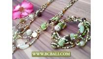 Glass Beads Mix Necklaces Bracelets Sets
