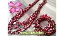 Nano Beads Bracelets Stretch Set Necklaces