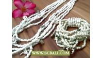 Necklace Beaded Charms Sets Bracelet Stretch