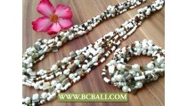 Sets Bracelets Necklace Multi Strands Stretch