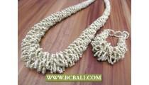 Unique Beads Wrap Necklace Bracelets Sets