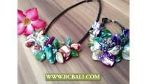 Mix Color Nuged Shells Bracelets Sets