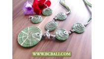 Necklaces Sets Earrings Rezin Shells Design