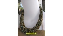 golden beaded short necklaces multi seeds