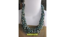 bali beaded short necklaces multi seed wrapt
