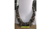 beading necklaces multi seeds hand wrapted